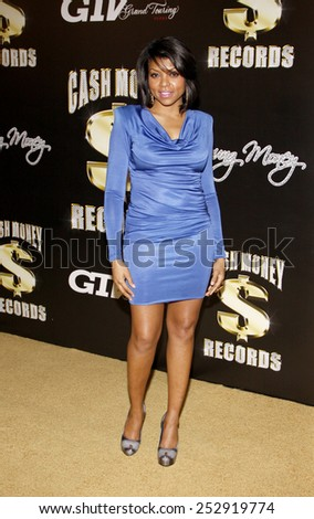 Taraji P. Henson at the The Grammy Awards: Cash Money - Pre-Grammy Party held at the Paramount Studios, California, United States on February 11, 2012.  - stock photo