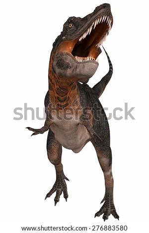 tarbosaurus - stock photo
