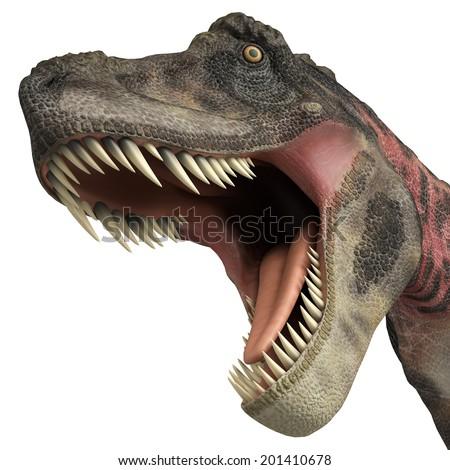tarbosaurus big bite - stock photo