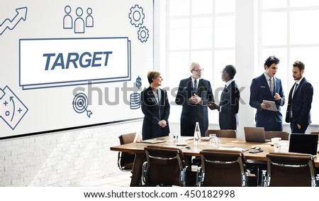 Target Accomplished Reached Goals Graphic Concept - stock photo