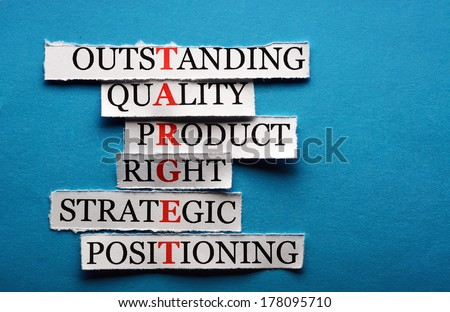 Target  acronym  in business concept, words on cut paper hard light - stock photo