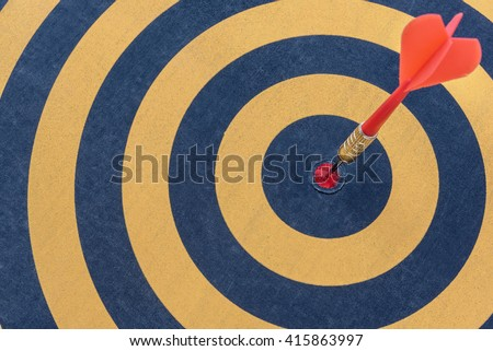 Target arrow on bullseye(goals) in dartboard, Business accuracy concept