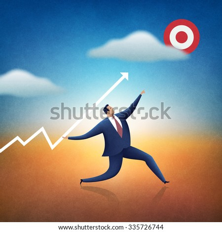 Target. Business illustration. - stock photo