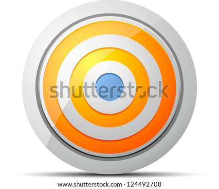 Target button - stock photo