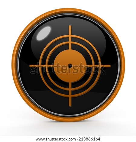 Target circular icon on white background