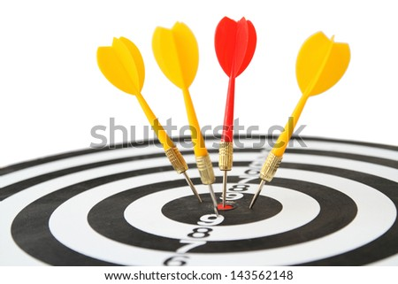 Target concept white background - stock photo
