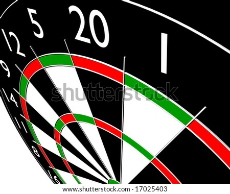 target dart on white background