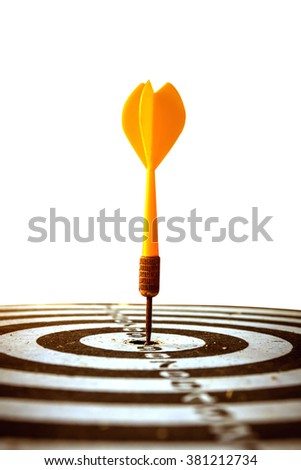 target dart with target arrows over bokeh background ,abstract background to target marketing or target arrow concept . - stock photo