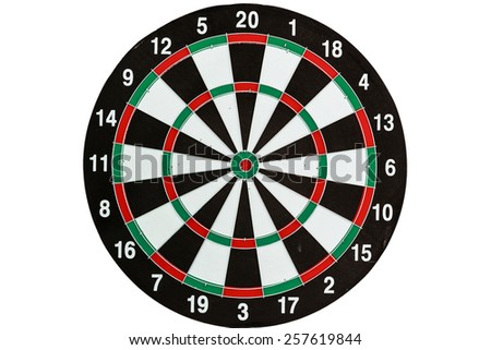 target darts player meditation and visualization on white background - stock photo