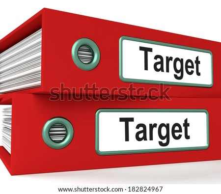 Target Folders Showing Business Goals And Objectives