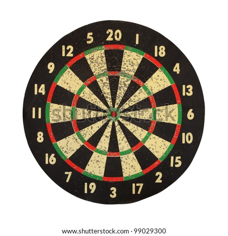 Target for darts on a white background. - stock photo