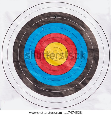 Target for modern competitive archery