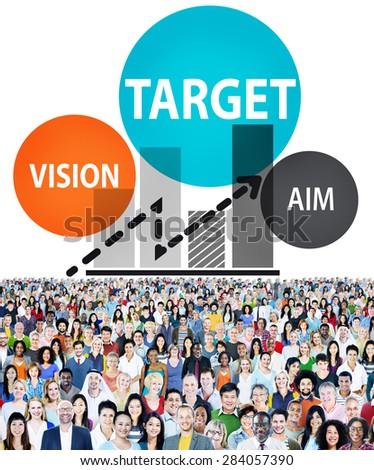 Target Goal Aspiration Aim Vision Vision Concept - stock photo