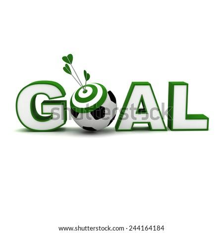 target green goal 3d texture - stock photo