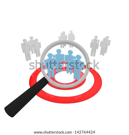 target group - stock photo