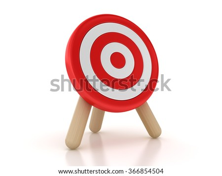 Target  - High Quality 3D Rendering - stock photo
