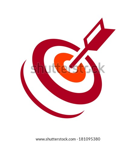 target hit Branding Identity Corporate logo design template Isolated on a white background