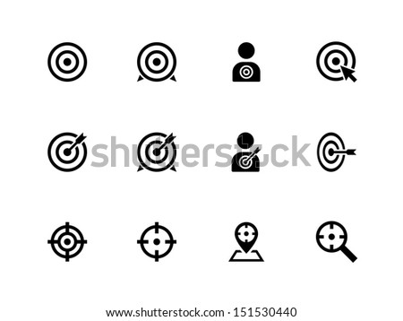 Target icons on white background. See also vector version. - stock photo