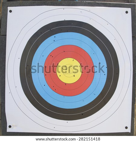target real - colors holes - stock photo