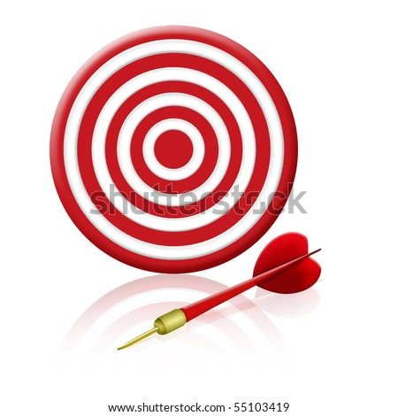 target & red arrow, play concept
