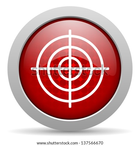 target red circle web glossy icon