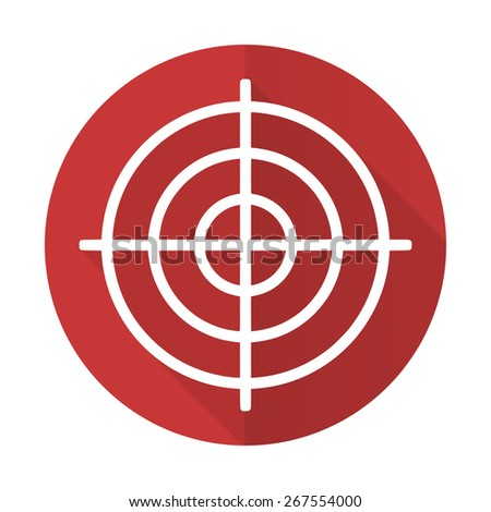 target red flat icon