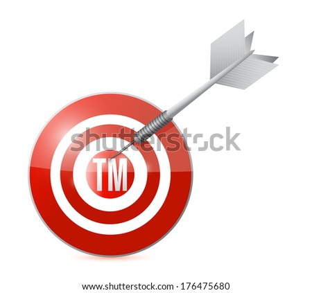 target trademark illustration design over a white background
