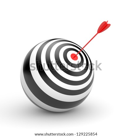 Target with arrow - stock photo