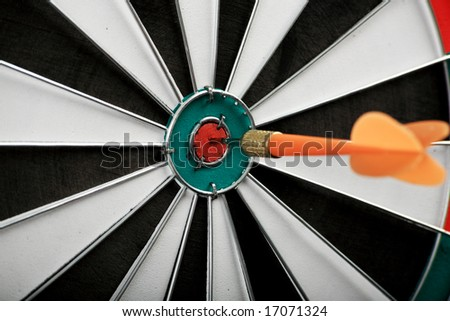 Target with arrow: game, aim, sport
