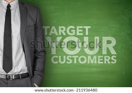 Target Your Customers on Blackboard - stock photo