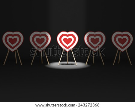 Targets for Cupid - stock photo