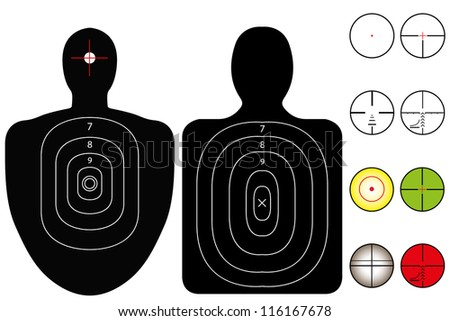Targets with a Selection of Recticles - stock photo