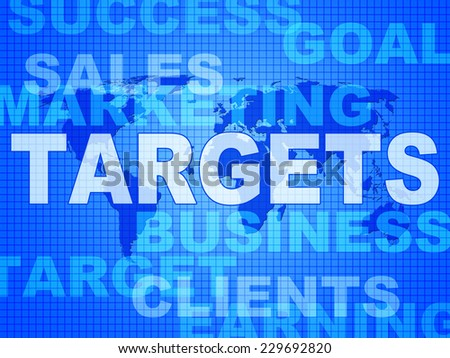 Targets Words Meaning Forecast Goals And Aiming