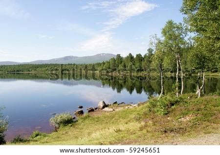 Tarn in a mountain area - stock photo