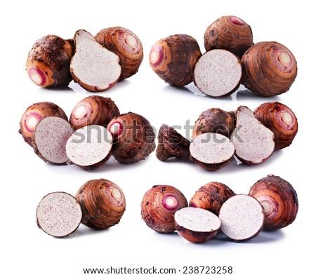 Taro root - stock photo