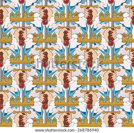 Tarot themed wallpaper - stock photo