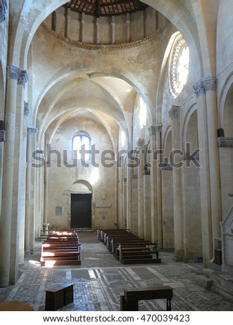 TARQUINIA, ITALY - CIRCA JUNE 2016: Santa Maria in Castello church