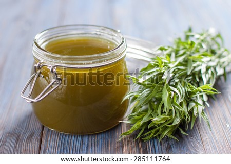 tarragon syrup. home cooking