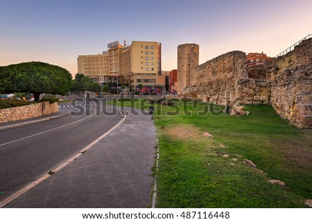 TARRAGONA, SPAIN - JUNE 27, 2016: Ruins of Ancient Roman Circus in Tarragona. The circus was built at the end of the first century A.D., possibly in the time of the emperor Domitian.