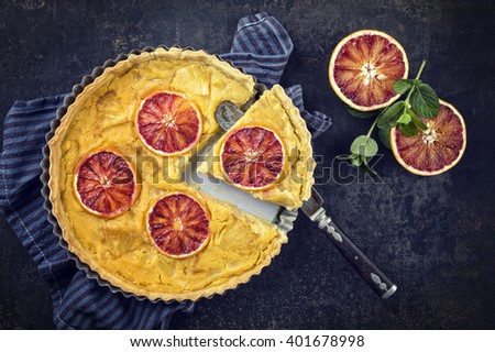 Tart au Citron - stock photo