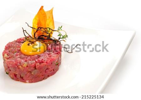 tartare Piedmont - stock photo