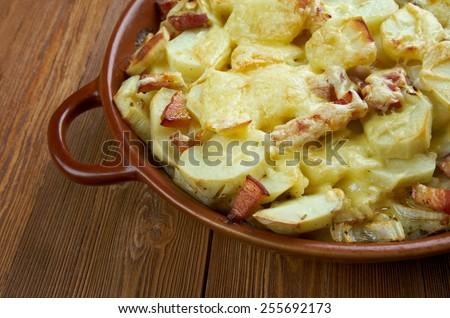 Tartiflette - French dish from the Savoie and Haute Savoie region ...