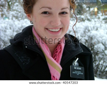 TARTU, ESTONIA - March 17: Mormon missionary in Tartu on March 17, 2006 in Tartu, Estonia. 50 000 fulltime missionaries go on missions worldwide every year, over million missionaries have already completed the missions - stock photo
