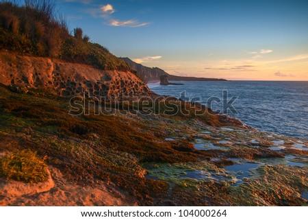 Tasman Sea and the pretty Truman Beach, - stock photo