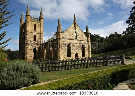 Tasmania's Port Arthur Historic Site - stock photo