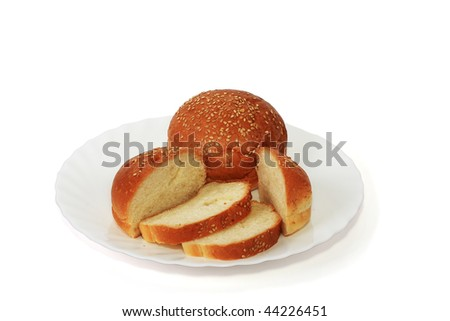 Tasty and nutritious bread, is necessary addition to any high-calorie food - stock photo