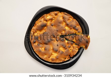 tasty apple pie - stock photo