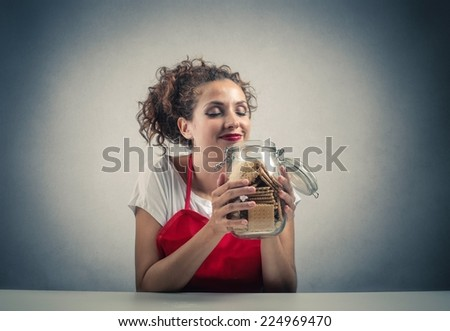 Tasty biscuits  - stock photo