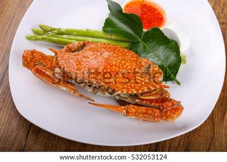 Tasty Boiled crab - ready for eat