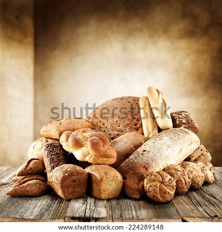 tasty bread  - stock photo